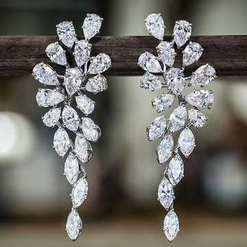 beautiful raindrop marquise earring