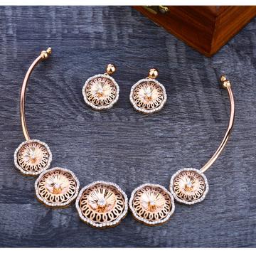 750 Stylish Rose Gold  Women's Necklace Set RN41