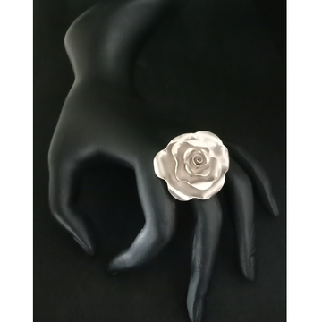 925 Sterling Silver Rose Design Ring LJS 003