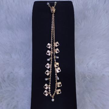 18KT/750 Rose Gold Fancy Liyoni Bracelet GLU-185
