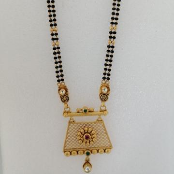 916 gold antique jadtar mangalsutra by Vinayak Gold