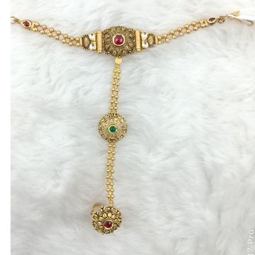 916 GOLD ANTIQUE HATH PONCHA / PANJA by Ranka Jewellers