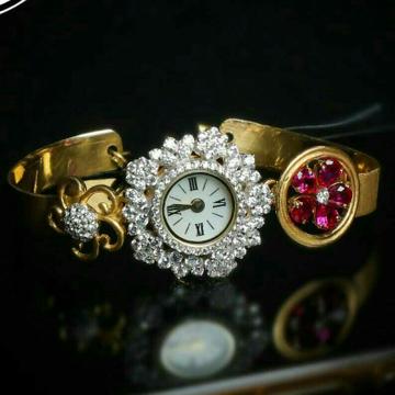 22kt Gold Cz Ladies Watch