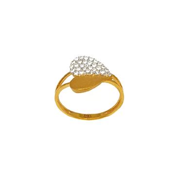 22K Gold Heart Shape Designer Ring MGA - LRG1078