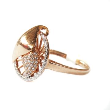18k rose gold round shape ring mga - rgr0033