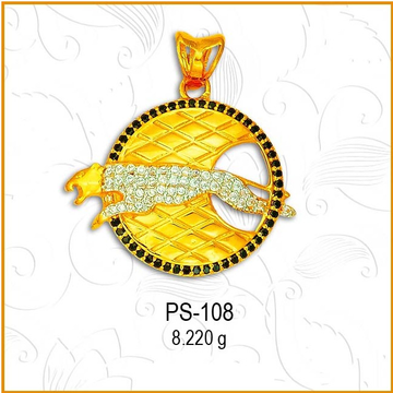 22KT Gold CZ Attractive Jaguar Pendant PD-108