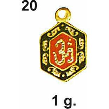 22KT Gold Om Design Pendant DC-P020
