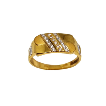 22K Gold Three Line Diamond Ring MGA - GRG0222