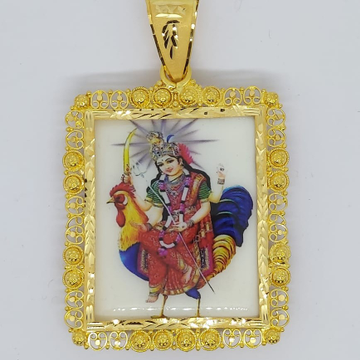 bahuchar maa gold photo frame pend