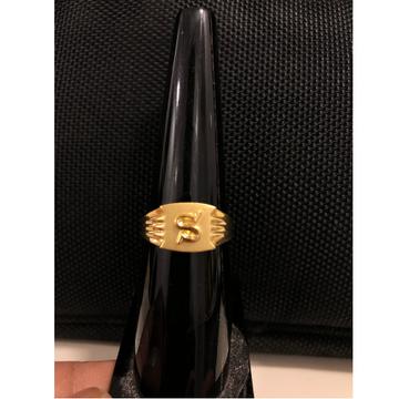 22Kt Gold Alphabet S Ring For Men KDJ-R022
