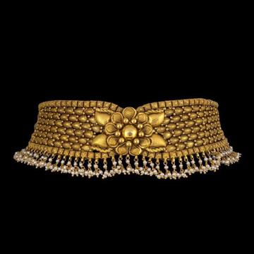 22KT yellow Gold Choker Set for Women