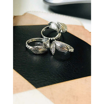 92.5 Sterling Silver Leaf Shape Toe Ring(Bichiya,Ferva) Ms-3692