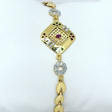 Gold CZ Colourfull Ladies Lucky LL-0001