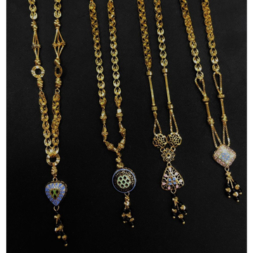 Gold Fancy Turkish Pendant Chain  by