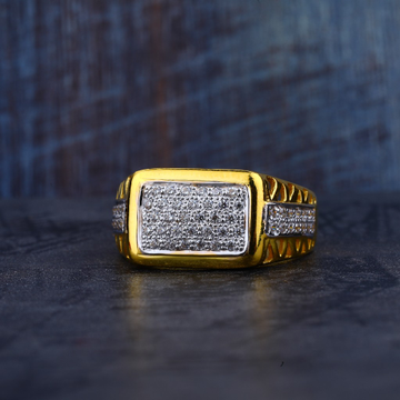 Mens 916 Gold Cz Ring-MR183