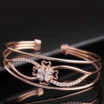 18k Dimond Rose Gold Bracelet For women by