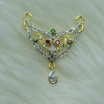 916 Gold Light weight mangalsutra pendant