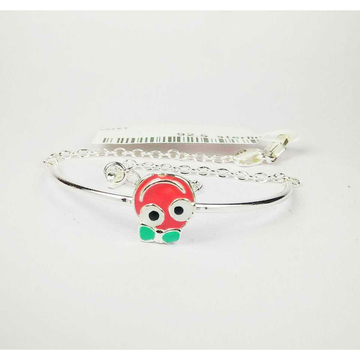 925 silver baby bracelet with smiley face shape