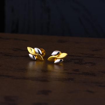 Ladies 22k Gold Fancy Plain Earring -LPE151