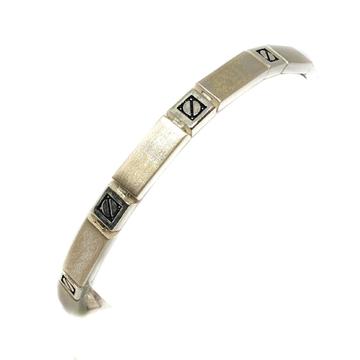 925 Sterling Silver Rectangle Shape Bracelet MGA - BRS0276