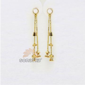 Double Line Gold Latkan for Earrings SK - E004 by