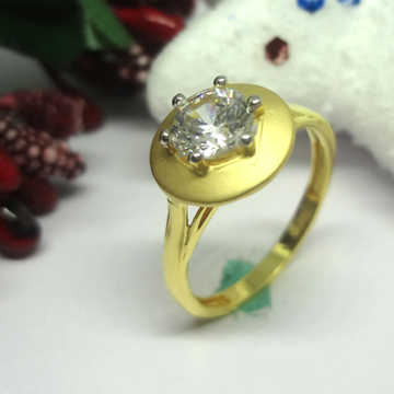 916 gold cz diamond ladies ring