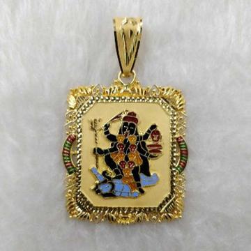 916 Gold Mahakali Goddess Pendant