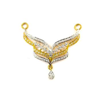 916 GOLD CERTIFIED FANCY LADIES DAIMOND MANGALSUTR... by Shreeji Silver Palace
