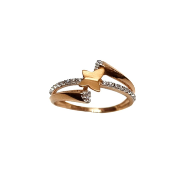 18K Rose Gold Butterfly Shaped Modern Ring MGA - LRG1149
