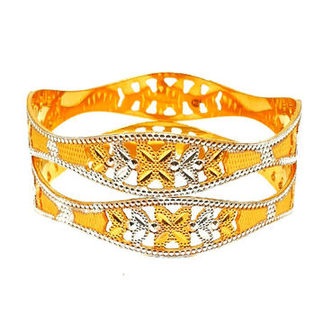 One gram gold forming designer bangles mga - bge0278