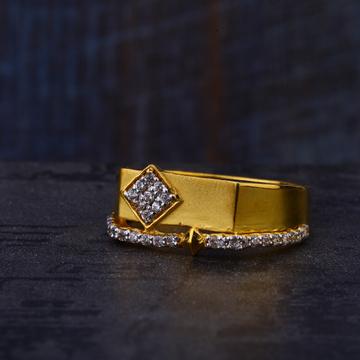 916 Gold Cz Mens Designer  Ring MR536