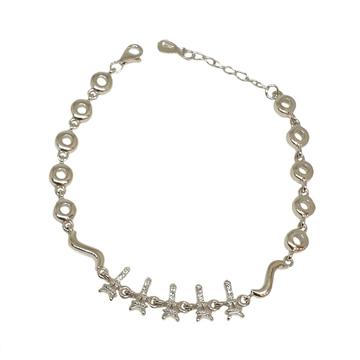 925 Sterling Silver Fancy Bracelet MGA - BRS1749