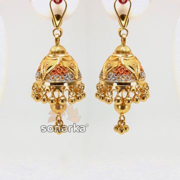 Gold Jhumka SK - E021 by