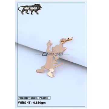 18 Carat Italian pendent rose gold cartoon shape ipg0090