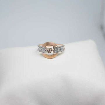 18c Rose Gold ladies Ring