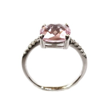 925 Sterling Silver Fancy Colour Stone Ring MGA -...