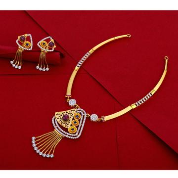 916 Gold Hallmark Designer Necklace Set LN264
