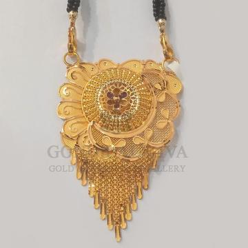22kt gold mangalsutra gdl-h4