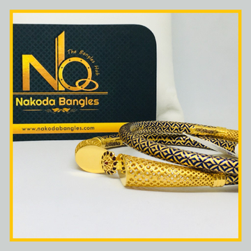 916 Gold Pipe Bangles NB - 511