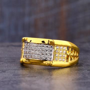 916 CZ Gold stylish Men's Ring MR759