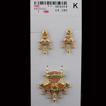 916 Calcutti Mangalsutra Pendant Set