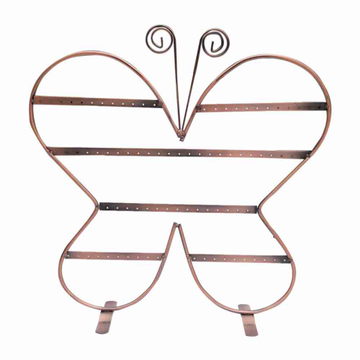 Butterfly metal earring stand
