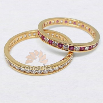 22k CZ Gold Bands & Ring Light Weight for Womens