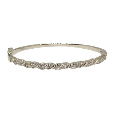 925 Sterling Silver CZ Diamond Bracelet MGA - BRS1744