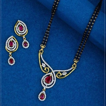 22Kt Gold antic Colourful Mangalsutra RH-MS028