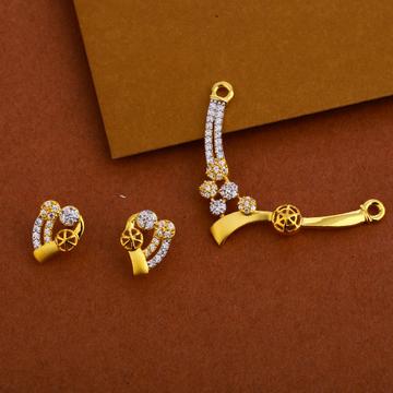 916 Gold  Mangalsutra Women's Stylish Pendant Set MP245