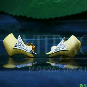 18kt Plain Gold Cz Ladies Tops ATG -0386