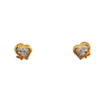 22K Gold Heart Shaped Earrings MGA - BTG0367