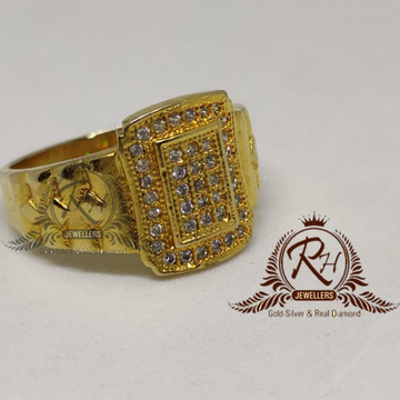 22 carat gold gents engle diamond ring RH-GR909