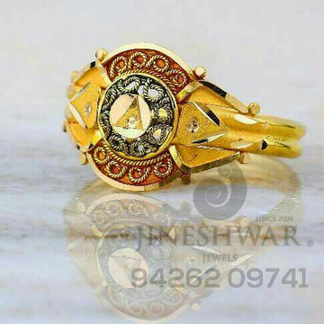Fancy Attractive Plain Gold ladies Ring LRG -0826